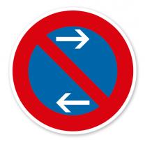 Eingeschränktes Halteverbot Mitte, Linksaufstellung - Verkehrsschild VZ 286-31