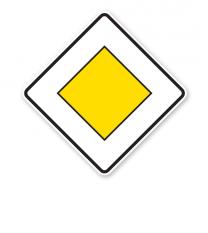Vorfahrtstraße - Verkehrsschild VZ 306