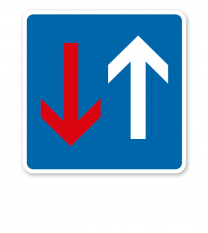 Vorrang vor dem Gegenverkehr - Verkehrsschild VZ 308