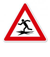 Verkehrsschild Warnung vor Eiseinbruch