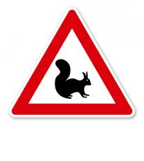 Verkehrsschild Eichhörnchen