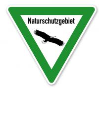 Verkehrsschild Naturschutzgebiet – Adler
