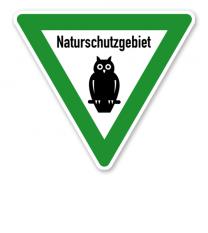 Verkehrsschild Naturschutzgebiet – Eule