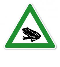 Verkehrsschild Krötenwanderung