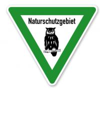 Verkehrsschild Naturschutzgebiet – Eule 2