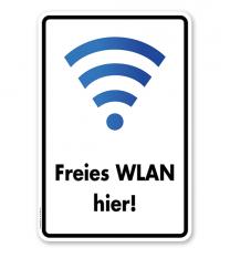 Hinweisschild Freies WLAN hier - WH
