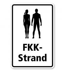 Hinweisschild FKK-Strand - WH