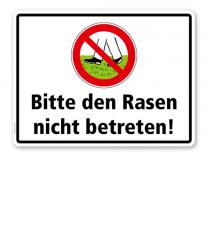 Verbotsschild Bitte den Rasen nicht betreten - WH