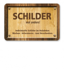 Individuelles Schild im Holzdekor 300/200 - WH
