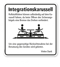 Hinweisschild Integrationskarussell - WH