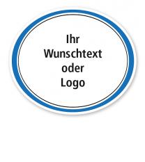 Maibaumschild Oval quer mit farbigem Rahmen - WH