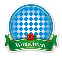 Festsschild Bayernschild mit Banderole - WH