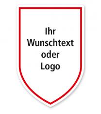 Maibaumschild Wappen mit Spitze - WH