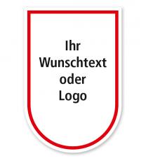 Maibaumschild Wappen abgerundet - WH
