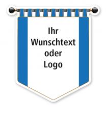Maibaumschild Blaues Banner mit weißer Fläche - WH