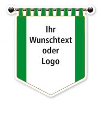 Maibaumschild Grünes Banner mit weißer Fläche - WH