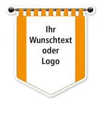Maibaumschild Gelbes Banner mit weißer Fläche - WH