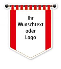 Maibaumschild Rotes Banner mit weißer Fläche - WH