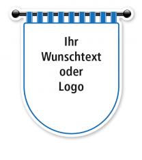 Maibaumschild Wappen rund mit blauem Rand - WH