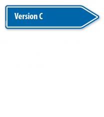 Pfeilschild / Pfeilwegweiser individuell - Version C - WH