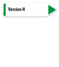 Pfeilschild / Pfeilwegweiser individuell - Version H - WH
