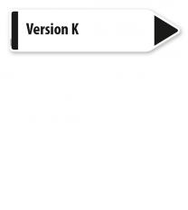 Pfeilschild / Pfeilwegweiser individuell - Version K - WH