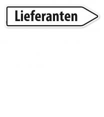 Pfeilschild / Pfeilwegweiser Lieferanten - WH