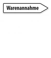 Pfeilschild / Pfeilwegweiser Warenannahme - WH