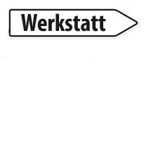 Pfeilschild / Pfeilwegweiser Werkstatt - WH