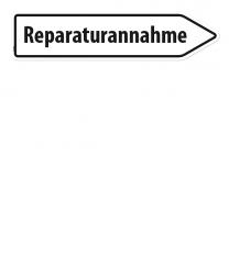 Pfeilschild / Pfeilwegweiser Reparaturannahme - WH