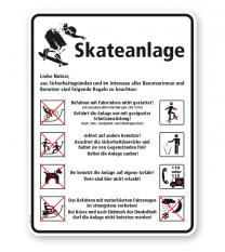 Spielplatzschild Skateanlage - WH