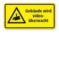 Hinweisschild Gebäude wird videoüberwacht - WH