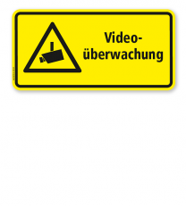 Hinweisschild Videoüberwachung - WH