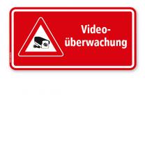 Hinweisschild Videoüberwachung - rot - WH