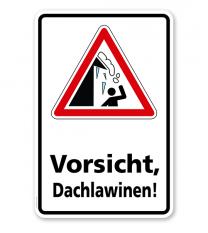 Schild Vorsicht, Dachlawinen! - WH