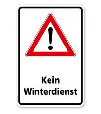 Schild Kein Winterdienst - WH