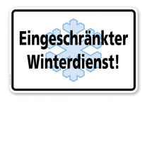 Schild Eingeschränkter Winterdienst - WH