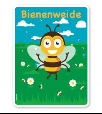 Schild Bienenweide